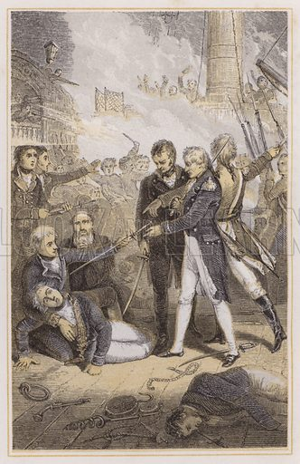 Nelson receiving the Spanish Admiral's sword. Illustration for The Life of Nelson by Robert Southey (new edn, Bell and Daldy, 1866).