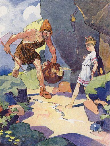 Une Petite Fille de L'Age de Bronze. Illustration for Petites Filles Du Temps Passe by J Jacquin (4th edn, Hachette, 1926).
