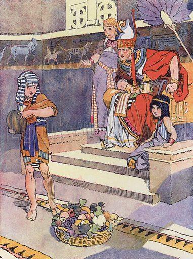Une Petite Egyptienne sous Ramses II. Illustration for Petites Filles Du Temps Passe by J Jacquin (4th edn, Hachette, 1926).