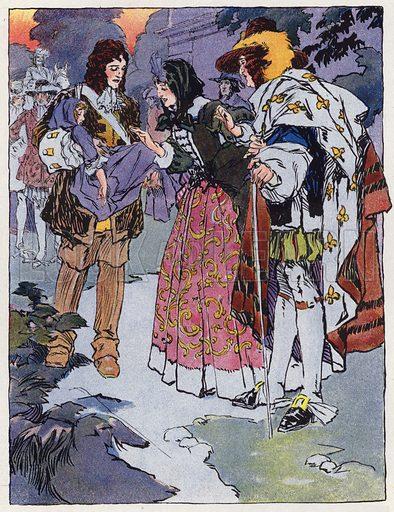 Une Eleve de Saint-Cyr Sous Louis XIV. Illustration for Petites Filles Du Temps Passe by J Jacquin (4th edn, Hachette, 1926).