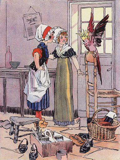 Une Petite Fille sous la Revolution, 1792. Illustration for Petites Filles Du Temps Passe by J Jacquin (4th edn, Hachette, 1926).