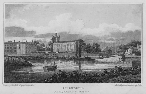 Isleworth. Illustration for London being an accurate History and Description of the British Metropolis and its Neighbourhood by David Hughson (J Stratford, 1809).