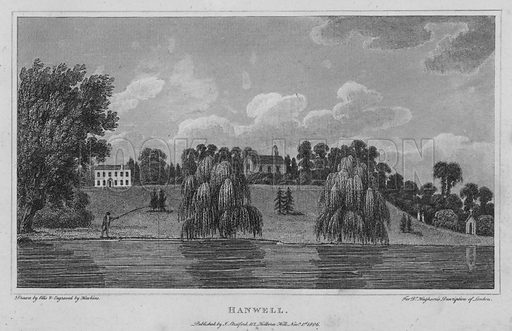 Hanwell. Illustration for London being an accurate History and Description of the British Metropolis and its Neighbourhood by David Hughson (J Stratford, 1809).