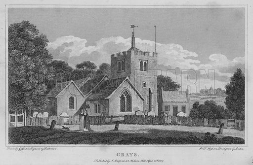 Grays. Illustration for London being an accurate History and Description of the British Metropolis and its Neighbourhood by David Hughson (J Stratford, 1809).