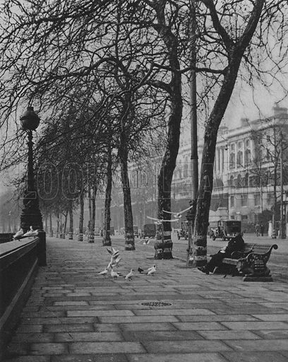 Victoria Embankment, Somerset House. Illustration for London Historic Buildings with an introduction by Harry Batsford (Batsford, c 1950).