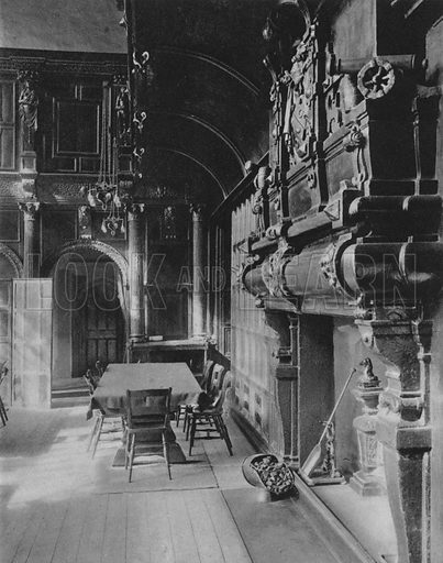 The Great Hall of the Charterhouse. Illustration for London Historic Buildings with an introduction by Harry Batsford (Batsford, c 1950).