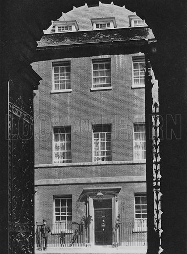 10, Downing Street. Illustration for London Historic Buildings with an introduction by Harry Batsford (Batsford, c 1950).
