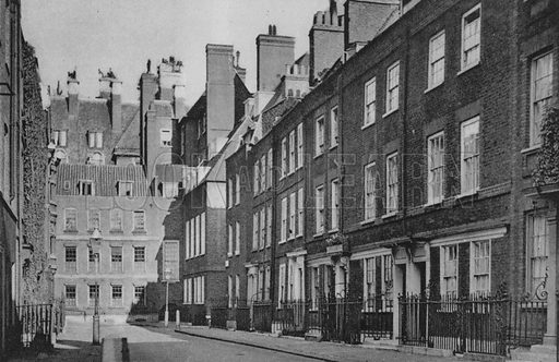Cowley Street. Illustration for London Historic Buildings with an introduction by Harry Batsford (Batsford, c 1950).