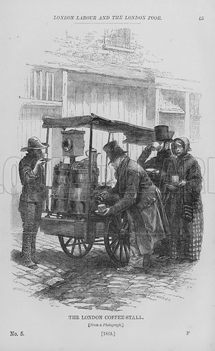 The London Coffee-Stall. Illustration for London Labour and the London Poor by Henry Mayhew (Charles Griffin, c 1865).