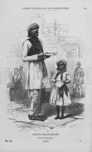 Hindoo Tract-Seller. Illustration for London Labour and the London Poor by Henry Mayhew (Charles Griffin, c 1865).