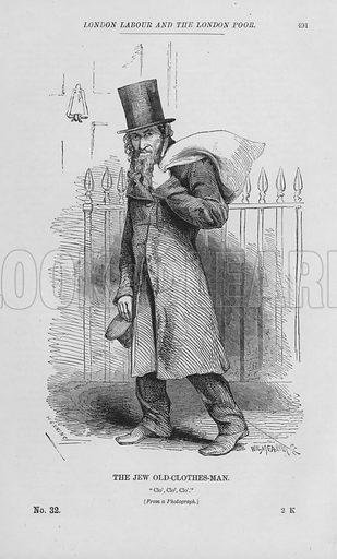 The Jew Old-Clothes-Man. Illustration for London Labour and the London Poor by Henry Mayhew (Charles Griffin, c 1865).