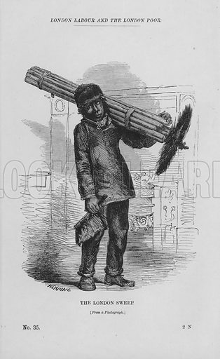 The London Sweep. Illustration for London Labour and the London Poor by Henry Mayhew (Charles Griffin, c 1865).