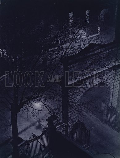 General Post Office, City. Illustration for London Night by John Morrison and Harold Burdekin (Collins, 1934). Gravure printed.
