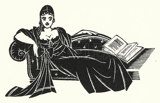 Illustration for Madame Bovary, A Story of Provincial Life, by Gustave Flaubert (John Lane The Bodley Head, 1928).