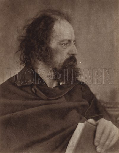 Dirty Monk, Alfred, Lord Tennyson. Illustration for Julia Margaret Cameron, her life and photographic work, by Helmut Gernsheim (Fountain Press, 1948).  Gravure printed.