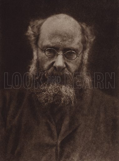Anthony Trollope. Illustration for Julia Margaret Cameron, her life and photographic work, by Helmut Gernsheim (Fountain Press, 1948).  Gravure printed.