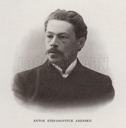 Anton Stepanovitch Arensky. Illustration for Modern Composers of Europe by Arthur Elson (Pitman, 1909).