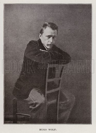 Hugo Wolf. Illustration for Modern Composers of Europe by Arthur Elson (Pitman, 1909).