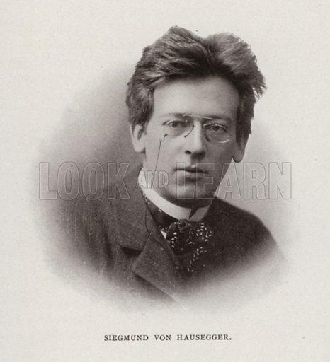 Siegmund von Hausegger. Illustration for Modern Composers of Europe by Arthur Elson (Pitman, 1909).