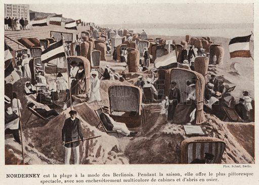 Norderney. Illustration for L'Allemagne Moderne by Jules Huret (Pierre Lafitte, 1913).