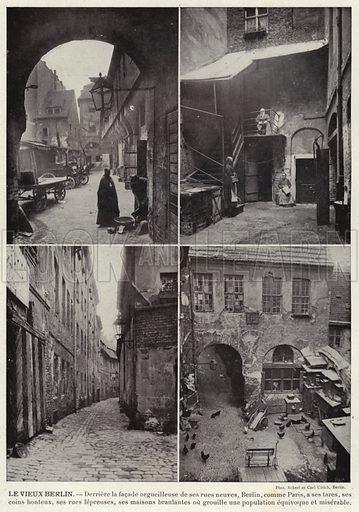 Le Vieux Berlin. Illustration for L'Allemagne Moderne by Jules Huret (Pierre Lafitte, 1913).