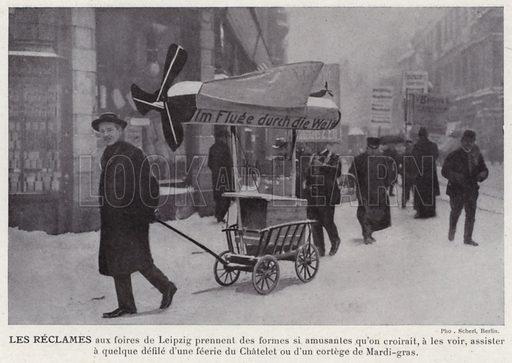 Les Reclames. Illustration for L'Allemagne Moderne by Jules Huret (Pierre Lafitte, 1913).