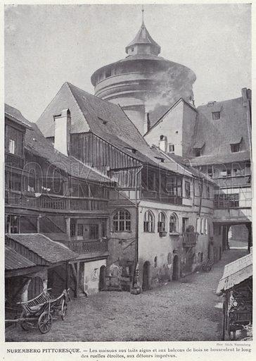 Nuremberg Pittoresque. Illustration for L'Allemagne Moderne by Jules Huret (Pierre Lafitte, 1913).
