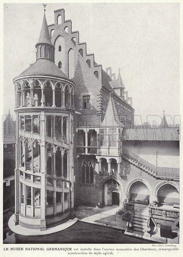 Le Musee National Germanique. Illustration for L'Allemagne Moderne by Jules Huret (Pierre Lafitte, 1913).