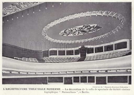 L'Architecture Theatrale Moderne. Illustration for L'Allemagne Moderne by Jules Huret (Pierre Lafitte, 1913).