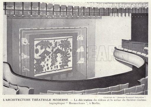 L'Architecture Theatrale Moderne. Illustration for L'Allemagne Moderne by Jules Huret (Pierre Lafitte, 1913).