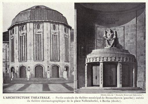L'Architecture Theatrale. Illustration for L'Allemagne Moderne by Jules Huret (Pierre Lafitte, 1913).