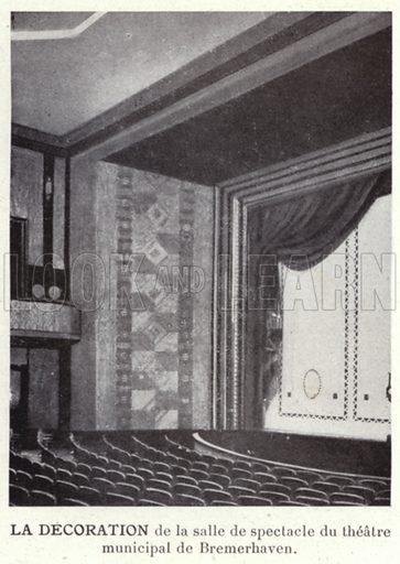 La Decoration. Illustration for L'Allemagne Moderne by Jules Huret (Pierre Lafitte, 1913).