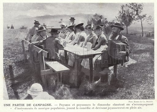 Une Partie De Campagne. Illustration for L'Allemagne Moderne by Jules Huret (Pierre Lafitte, 1913).