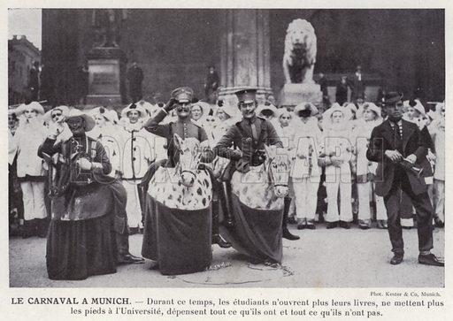 Le Carnaval A Munich. Illustration for L'Allemagne Moderne by Jules Huret (Pierre Lafitte, 1913).