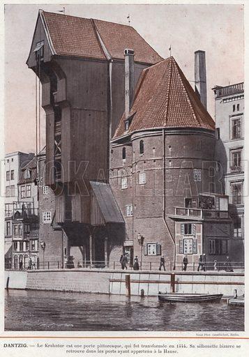 Dantzig. Illustration for L'Allemagne Moderne by Jules Huret (Pierre Lafitte, 1913).