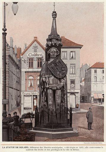 La Statue De Roland. Illustration for L'Allemagne Moderne by Jules Huret (Pierre Lafitte, 1913).