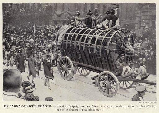 Un Carnaval D'Etudiants. Illustration for L'Allemagne Moderne by Jules Huret (Pierre Lafitte, 1913).
