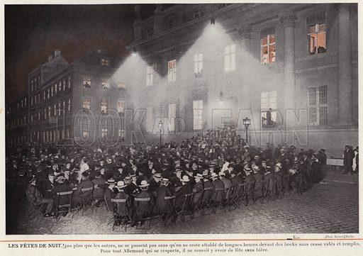 Les Fetes De Nuit. Illustration for L'Allemagne Moderne by Jules Huret (Pierre Lafitte, 1913).