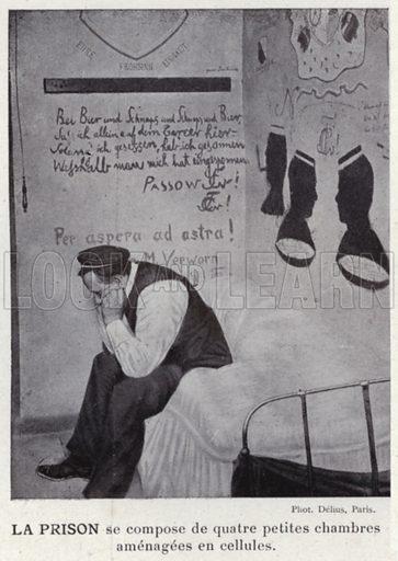 La Prison. Illustration for L'Allemagne Moderne by Jules Huret (Pierre Lafitte, 1913).