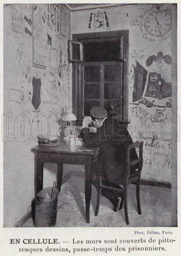 En Cellule. Illustration for L'Allemagne Moderne by Jules Huret (Pierre Lafitte, 1913).