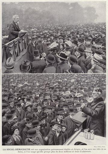 La Social-Democratie. Illustration for L'Allemagne Moderne by Jules Huret (Pierre Lafitte, 1913).