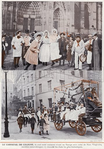 Le Carnaval De Cologne. Illustration for L'Allemagne Moderne by Jules Huret (Pierre Lafitte, 1913).