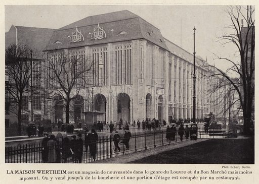 La Maison Wertheim. Illustration for L'Allemagne Moderne by Jules Huret (Pierre Lafitte, 1913).