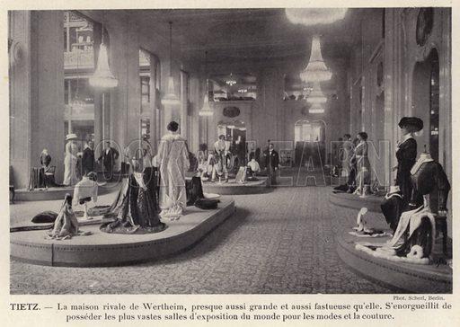 Tietz. Illustration for L'Allemagne Moderne by Jules Huret (Pierre Lafitte, 1913).