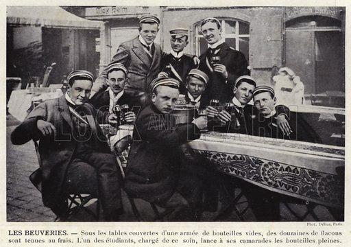 Les Beuveries. Illustration for L'Allemagne Moderne by Jules Huret (Pierre Lafitte, 1913).