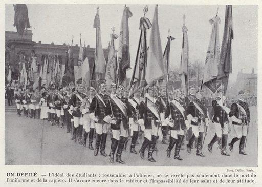 Un Defile. Illustration for L'Allemagne Moderne by Jules Huret (Pierre Lafitte, 1913).