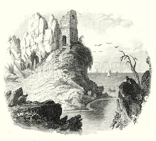 The Wizard's Peak. Illustration for Museum of Wonders Illustrated (D Omer Smith, c 1860).