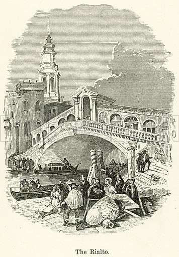 The Rialto. Illustration for Museum of Wonders Illustrated (D Omer Smith, c 1860).