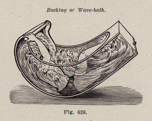 Rocking or wave-bath. Illustration for Bilz, The Natural Method of Healing (c 1888).