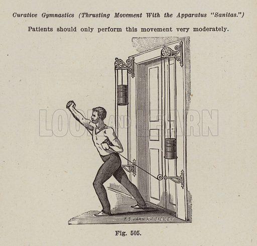 Gymnastic Apparatus. Illustration for Bilz, The Natural Method of Healing (c 1888).